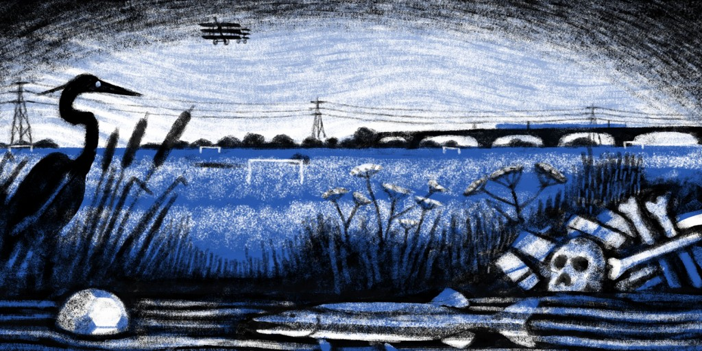 A Dream Life of Hackney Marshes, illustration by Frances Castle