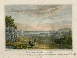 "View from the Minnis Rock"" (Hastings) engraved by R.Wallis after a picture by W.G.Moss, 1824"