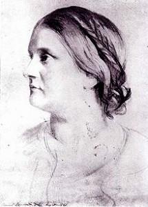 Barbara Bodichon, portrait by Samuel Lawrence